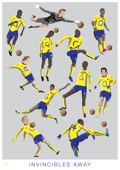 'Invincibles Away' This is a variant of my limited edition print, so if you're a Gunner and you missed out now's your chance to get hold of one of these prints. PURCHASE YOUR PRINT HERE