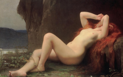 pocula:  Mary Magdalene in the Cave - Jules Joseph Lefebvre