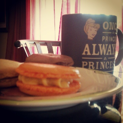Epic breakfast! #macarons #foodie #tea  (Taken with Instagram)
