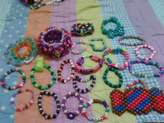 all the kandi I received at Hixxy :3