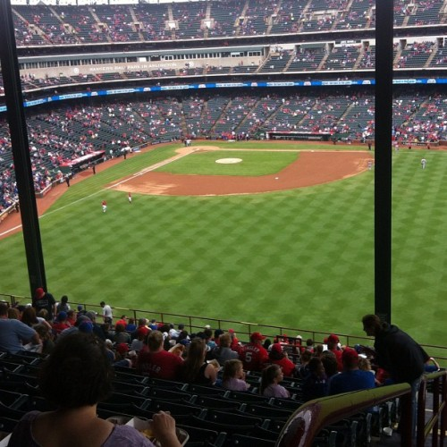 all you can eat seats… doubleheader…rangers #baseball #rangers #foodtime (Taken with Instagram)