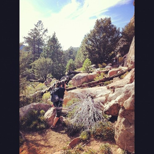 Hiking to a new area. #climbing #holcomb #myfriends #eddyizm #iphone @jen_005  (Taken with Instagram)