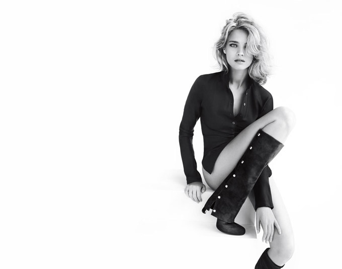 Natalia Vodianova by MarioTestino for Stuart Weitzman/