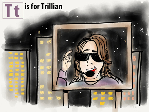 T is for Trillian, by Nils Cordes. From Mostly Harmless by Douglas Adams.