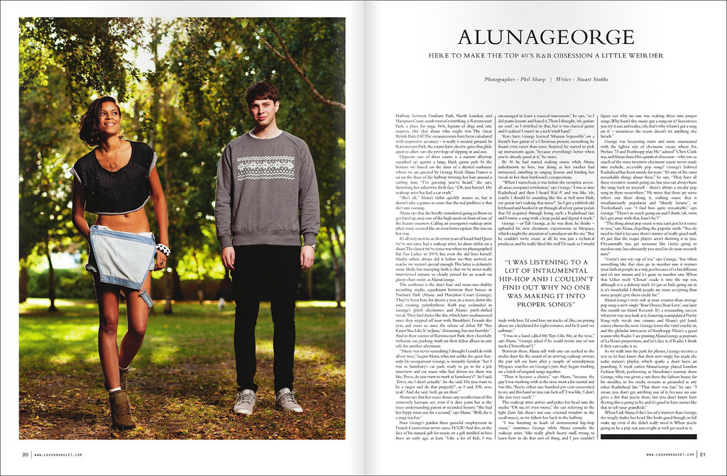 Alunageorge for Loud & Quiet (by Phil Sharp.)