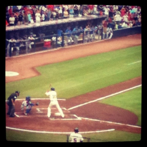 One last ride on the #CrazyTrain. #ChopForChipper @RealCJ10 @braves (Taken with Instagram at Turner Field)