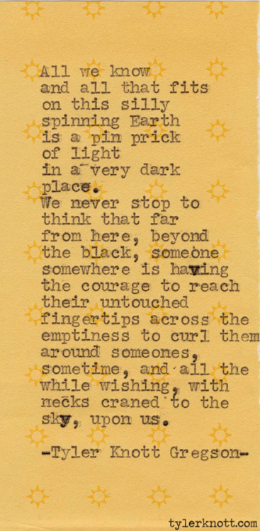 Typewriter Series #192 by Tyler Knott Gregson