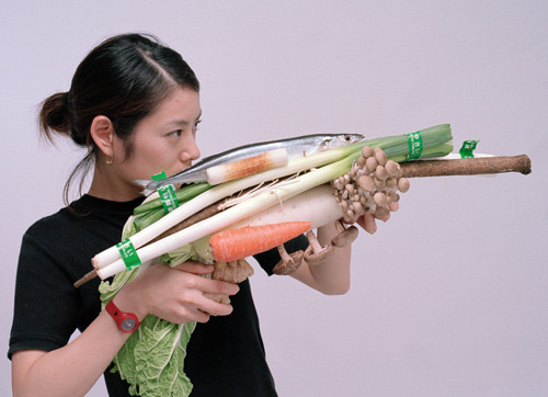 Vegetable Weapon series by Tsuyoshi Ozawa | ᔥ Junkculture