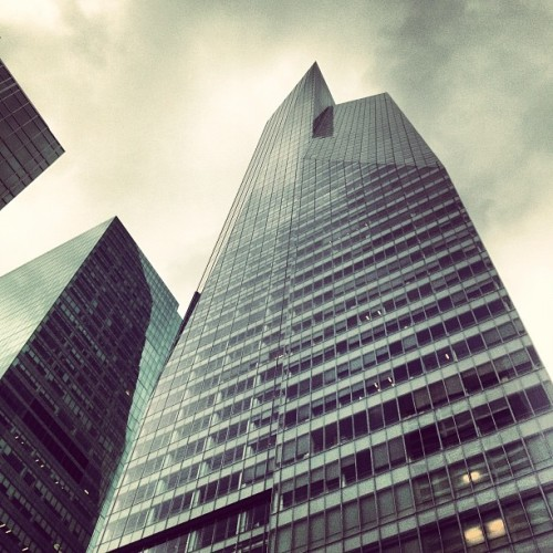 #nyc #newyorkcity #sky #clouds #building #instagram #iphoneography  (Taken with Instagram at Bank of America Tower)