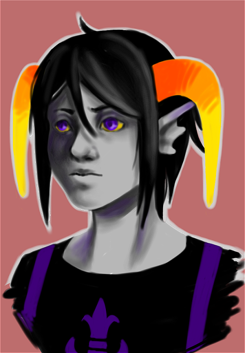 In a shitty mood and lost the energy for homework, so I drew my fantroll Prexia Fleuri. I really miss roleplaying her… And it's still my goal to cosplay her, even if it's just for a little private shoot.