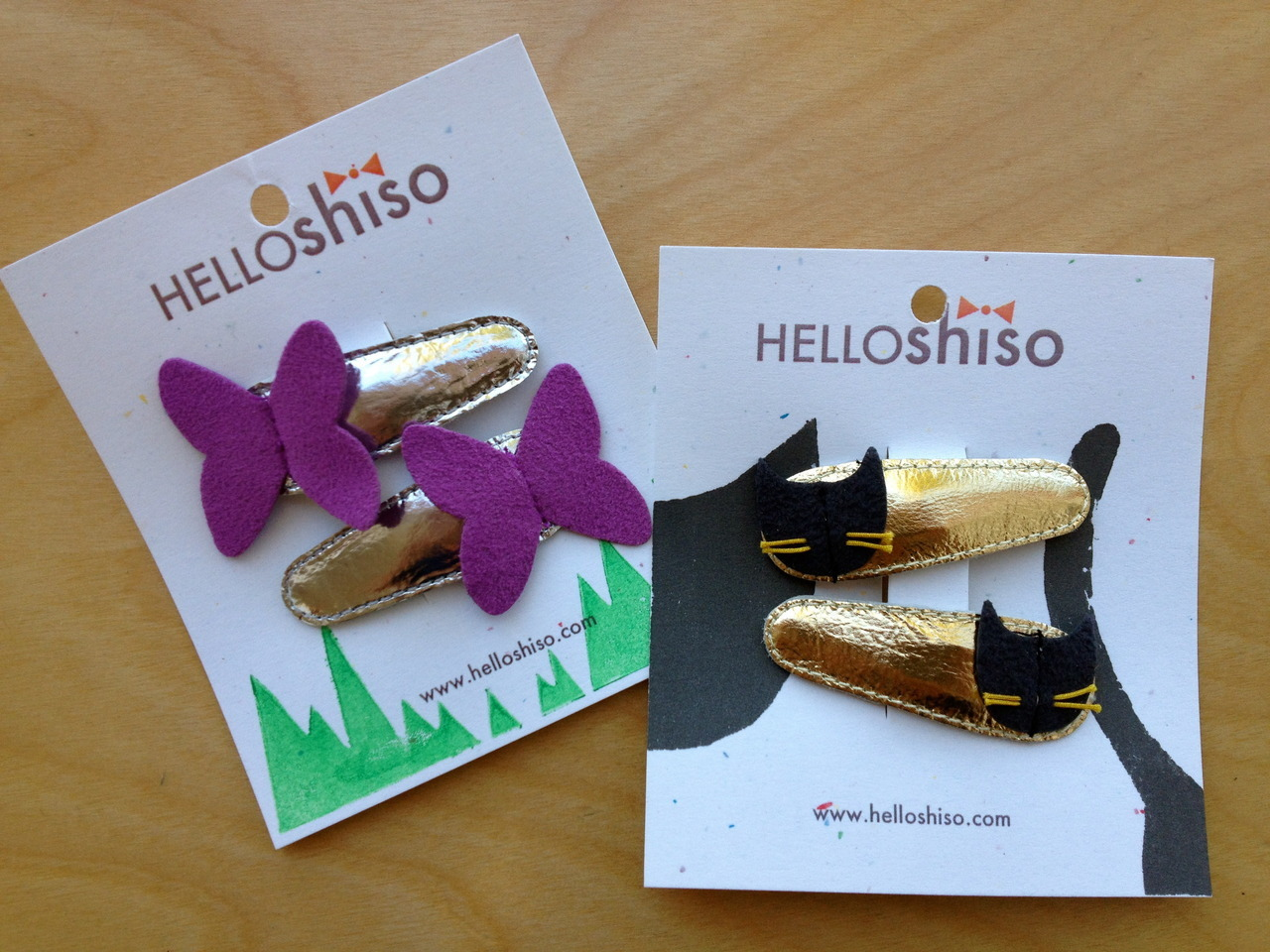 Hello Shiso:  Adorable locally made hair clips!