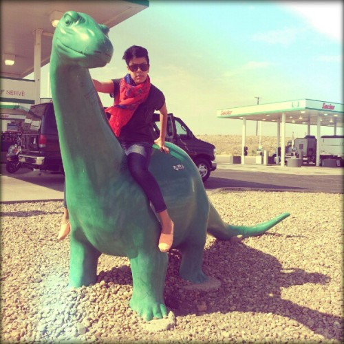Greetings from somewhere in #Colorado from me and my dinosaur. RAWRR. #tourlife  (Taken with Instagram)