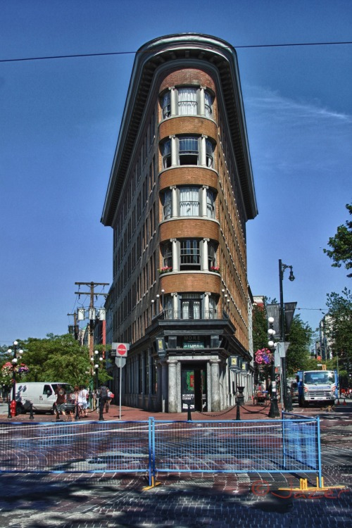 england style building in gastown