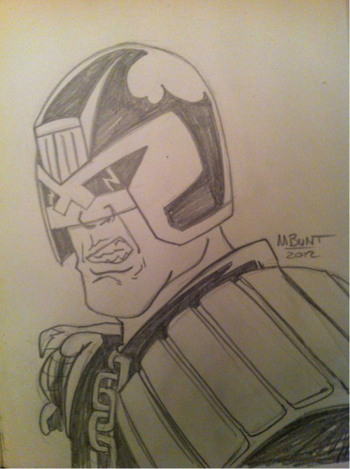 And another Dredd sketch, getting a little better I think.