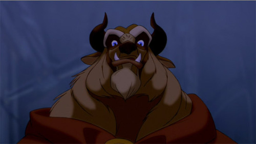 disneymoviefacts:  Glen Keane, the supervising animator on the Beast, created his own hybrid beast by combining the mane of a lion, the beard and head structure of a buffalo, the tusks and nose bridge of a wild boar, the heavily muscled brow of a gorilla, the legs and tail of a wolf, and the big and bulky body of a bear. He also has blue eyes, the one physical feature that does not change whether he is a beast or a human.
