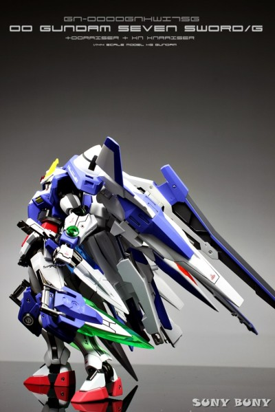 gunjap:  1/144 00 Gundam Seven Sword/G + OORaiser + XN XNRaiser: Improved, Painted Build,w/LED. Full Photoreview No.19 Big or Wallpaper Size Imageshttp://www.gunjap.net/site/?p=97124  い、いかす!!!!!!