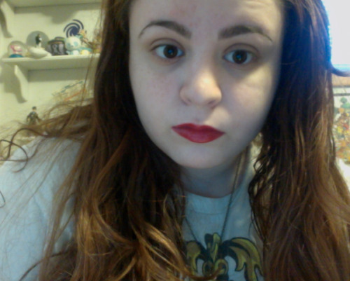 went to go buy stuff for the camping im doing this week got lipstick instead ╰(◡‿◡╰)