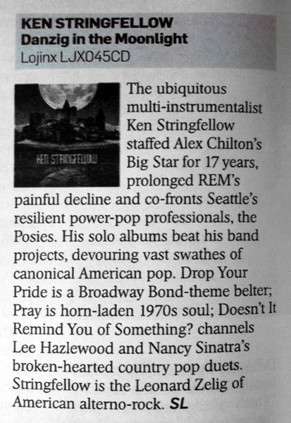 Stewart Lee reviews Ken Stringfellow in The Sunday Times.