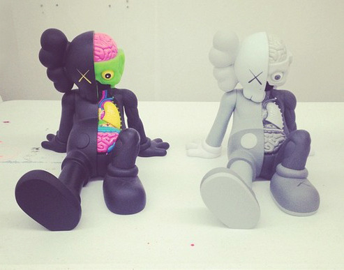 KAWS: Resting Place Companion - Black + Gray