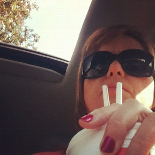 Me, manicure, music, sunroof and sweet tea.  (Taken with Instagram)