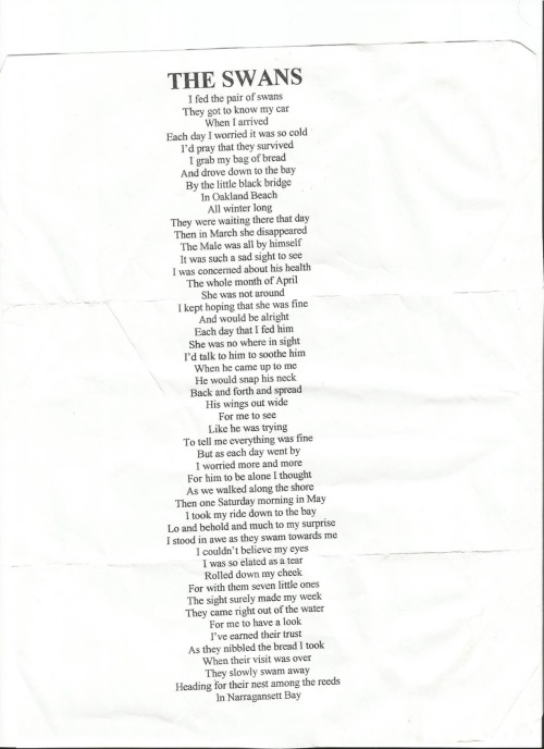 A poem written by the late Norman L. Cipriano Sr. aka my grandfather