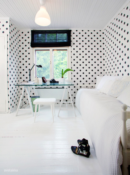 polka dots wallpaper (via 79 Ideas)