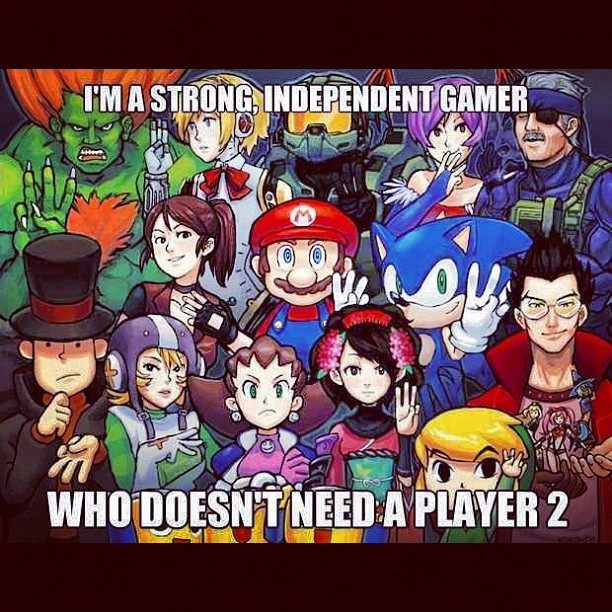 You don't always need a #Player 2 - #gaming #meme #independent # (Taken with Instagram)