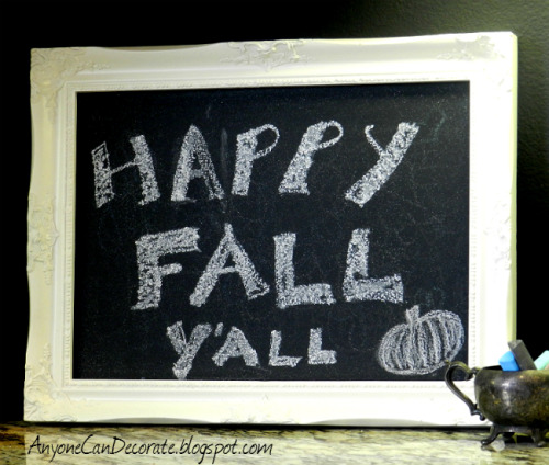 Happy Fall Y'all Chalkboard made for $3