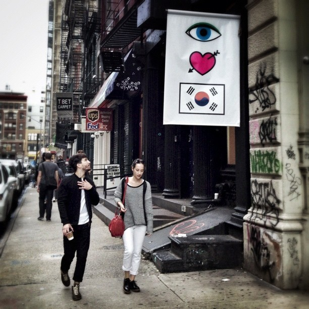 Awww he is touched by the message on the flag. 👀💘🇰🇷 #eye #love #korea @openingceremony #openingceremony #streetstyle #style #streetphotography #emotional #nyc #soho #newyorkcity #fashion #ilovekorea (Taken with Instagram at Opening Ceremony)