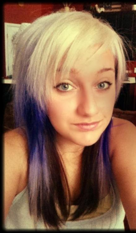 """When my hair was purple :D (It's blue now…)"" Nice, thanks for sharing!"