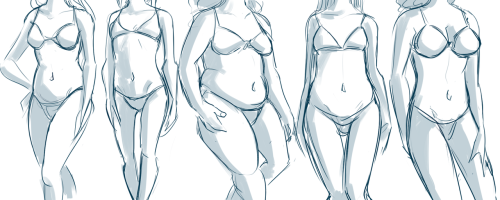 minuiko:  thought I'd practice some different body types for women after that atrocious Chris Hart tutorial