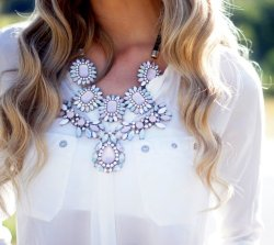 what-do-i-wear:  Pink Crystal Necklace from Zara (image: Mariishka)