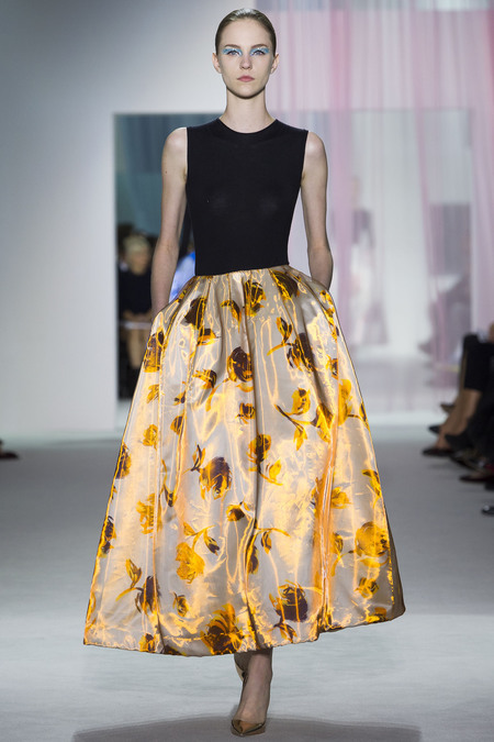 There was so much good in Raf Simon's first ready-to-wear show for Dior. The eyes, the shoes, the fabric, this skirt…