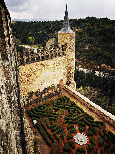 | ♕ |  Alcazar Castle - Segovia, Spain  | by © redcipolla The Alcázar of Segovia originally served as a fortress but has been used as a Royal Palace amongst other facilities — as a a state prison, Royal Artillery College and a military academy since then. The castle is one of the inspirations for Walt Disney's Cinderella Castle.  [Ref. Wiki]