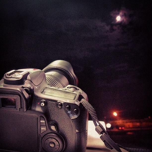 Attempting some long exposure moon photography. (Taken with Instagram at BP)
