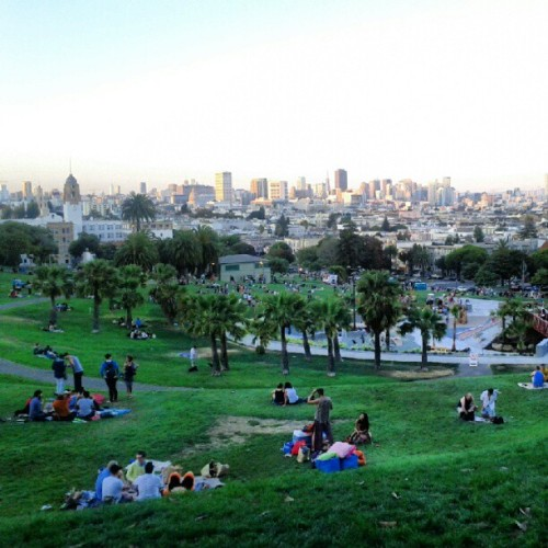 At Dolores Park with Balu, Basil, Makku & Mahesh  (Taken with Instagram at Mission Dolores Park)
