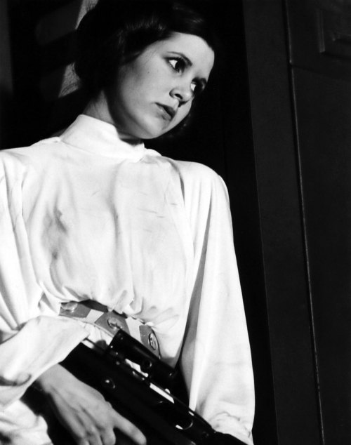 "feministfilm:  Never forget that time George Lucas told Carrie Fisher, after she asked to be allowed to wear a bra, that ""there's no underwear in space."" He tried to patch things up with Fisher later:  ""He's seen the show a couple times, and he actually came over and explained, because [I told the story] of him saying that there was no underwear in space,"" Fisher said at the Television Critics Association fall press tour. ""He explained that in space you get weightless, and so your flesh expands. What? But your bra doesn't, so you get strangled by your bra. That's why I couldn't wear a bra in the first Star Wars. George actually came backstage when I did the show in San Francisco and told me that.""  Obvious punchline: George Lucas has no idea how a human boob works.Another good joke: bras are a deathtrap in space, but metal bikinis are totally okay.Feminist Film: no bras in space.  George GEORGE and I thought I had TOO MANY reasons to shake my fist at thee"