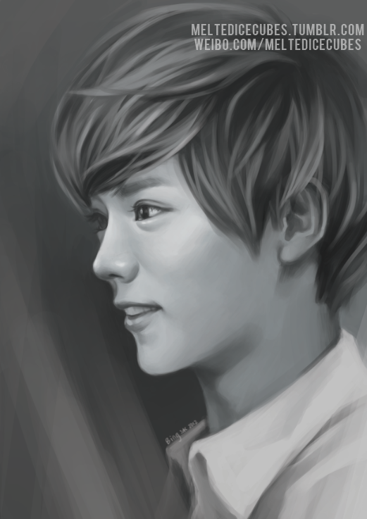 EXO-M Luhan! More KCON gifts prep~ I think for the next few, I might just upload them together by 2s instead of individually lol. XD Yixing and Chen are up next, and then Tao and Xiubaby :D and yes they're all going to be BW~  The more I do these, the more I'm freakin excited that I'm giving them to EXO-M *___* LASJKDlakjsdlkjasjkdasd