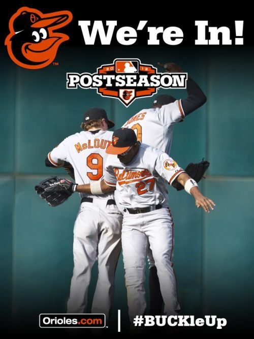 O's clinch. Oh how happy you have made me.