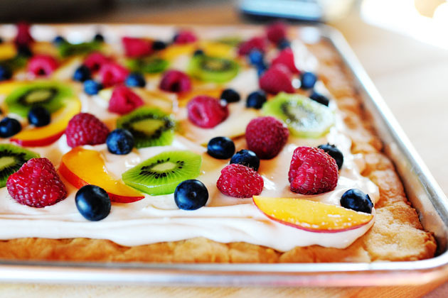 Deep Dish Fruit Pizza.