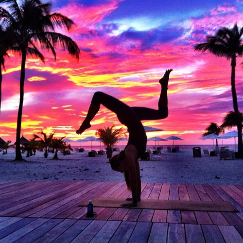 get-fit-4-life:  Yoga sunset!