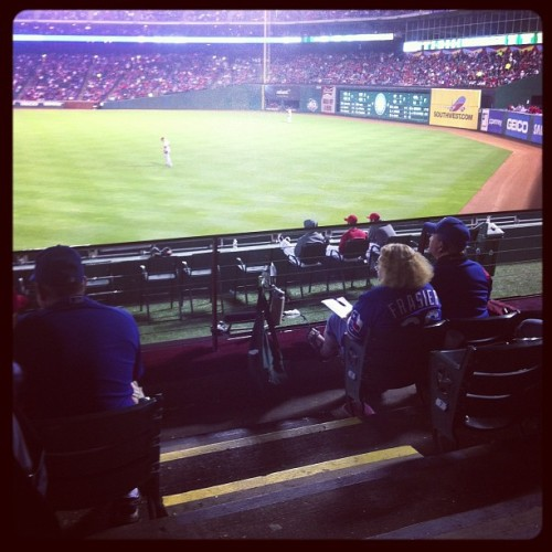 hey bullpen. what up? #baseball #rangers  (Taken with Instagram)
