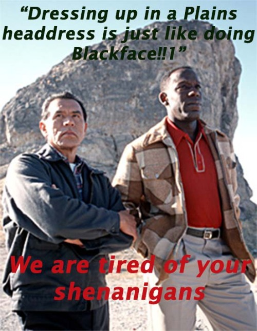 Unamused Wes Studi and James McDaniel meme
