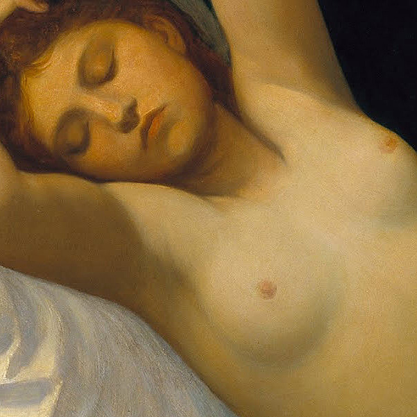 Alphonse Legros, Cupid and Psyche (detail), 1867