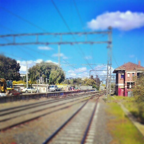 #railway #sky #cloud #landscape #Melbourne   (Taken with Instagram at Caulfield Station)