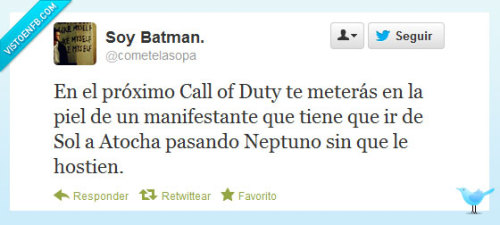 Call of Duty: Atocha Warfare por @cometelasopa Visto en Visto en FB