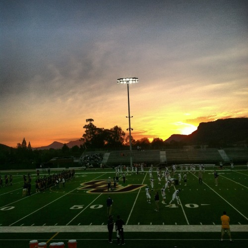 Awesome night for football. (Taken with instagram)