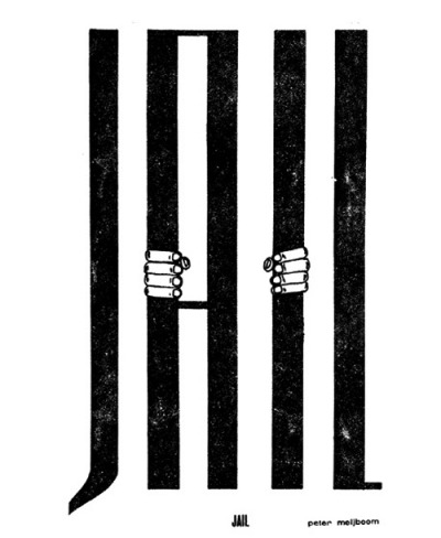 "visual-poetry:  ""jail"" by peter meijboom (1972)"