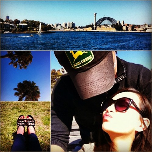 Long weekend you were not long enough…  #Sydney #waterside #park #love #sunshine #blue #kiss #instadaily #oroton #sunglasses #shoes  (Taken with Instagram at Pyrmont Point Park)
