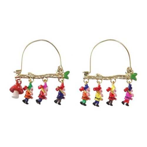 teen-witches:  lovely #7dwarfs#earrings (Taken with Instagram)